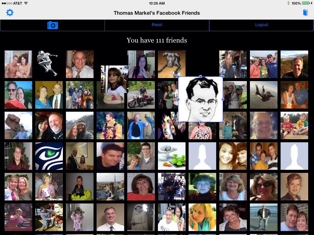 Collage for Facebook social utility (iOS mobile app)