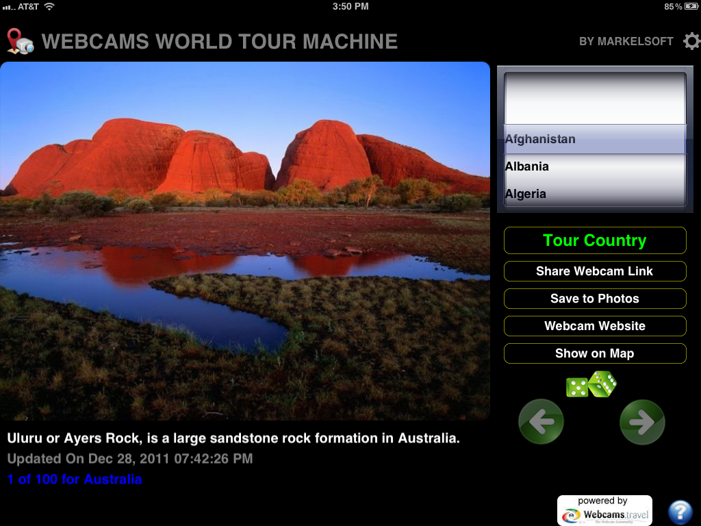 Webcams World Tour (iOS mobile app)