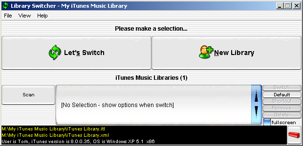 Library Switcher for iTunes (Windows software)