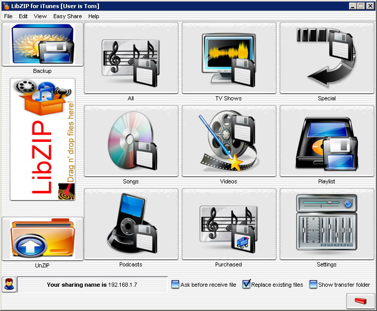 LibZIP for iTunes (Windows software)