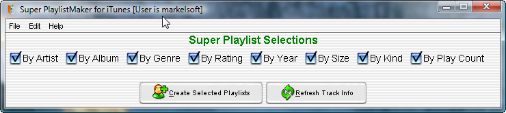 Super PlaylistMaker for iTunes (Windows software)