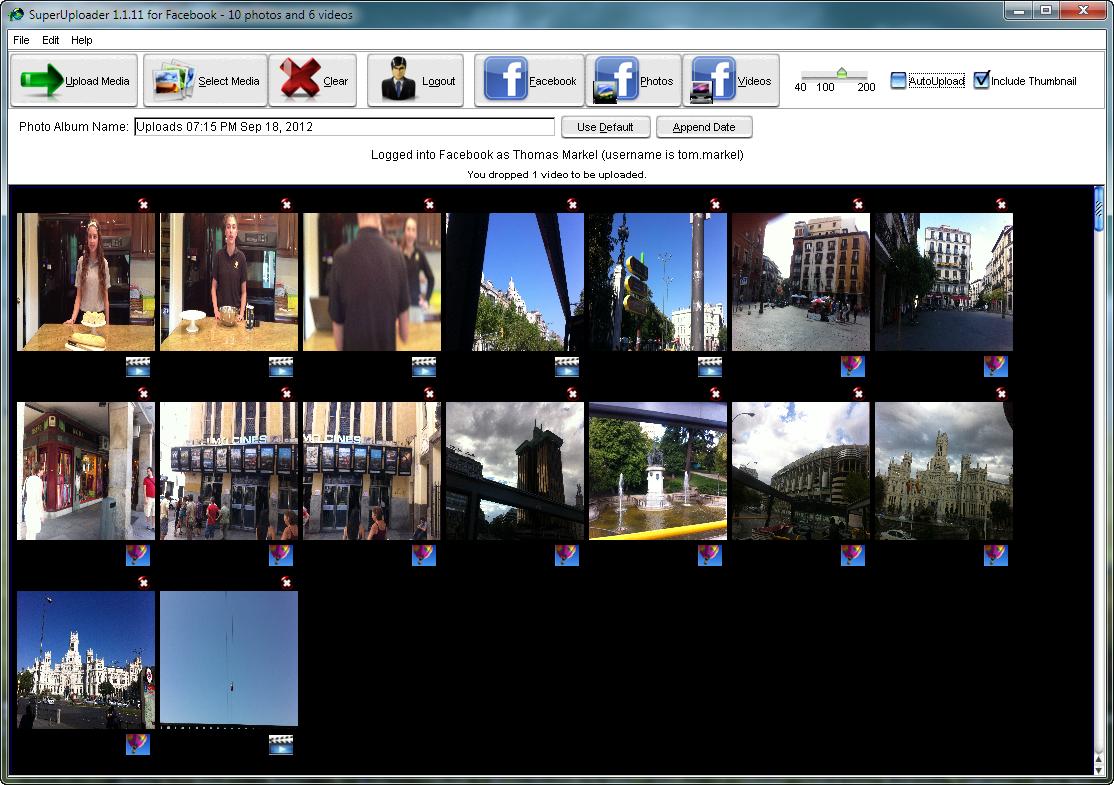 Windows 7 SuperUploader for Facebook 1.1.10 full